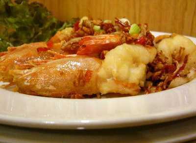สูตรวิธีการทำอาหารจีน-นึ่ง-อบ-ตุ๋น-กุ้งอบพริกเกลือ
