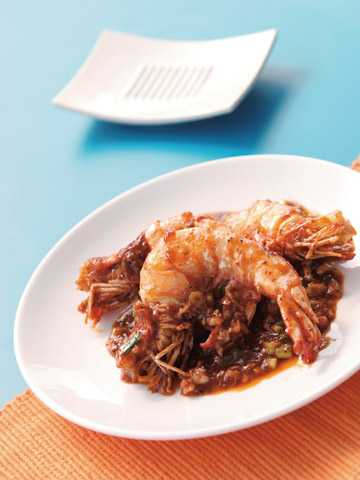สูตรวิธีการทำอาหารจีน-นึ่ง-อบ-ตุ๋น-กุ้งผัดเนยเหล้าจีน