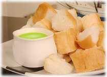 สูตรวิธีการทำของหวานไทย-ขนมปังสังขยาใบเตย
