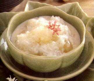 สูตรวิธีการทำของหวานไทย-ข้าวเหนียวเปียกลำไยหอมหวาน