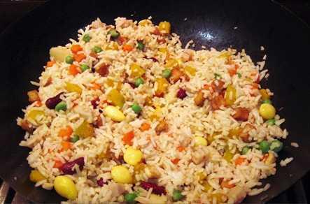 สูตรวิธีการทำอาหารไทย-อาหารเจ-ข้าวผัดโป๊ยเซียน