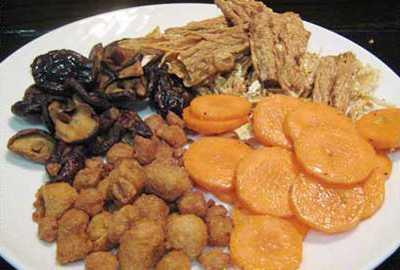 สูตรวิธีการทำอาหารไทย-อาหารเจ-กะหล่ำปลีตุ๋นเห็ดหอมทรงเครื่อง