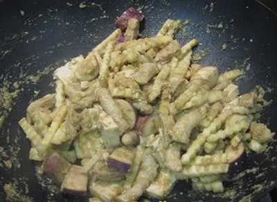 สูตรวิธีการทำอาหารไทย-อาหารเจ-ผัดแกงเขียวหวาน