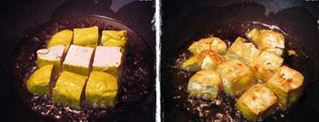สูตรวิธีการทำอาหารไทย-อาหารเจ-เต้าหู้น้ำแดงทรงเครื่อง