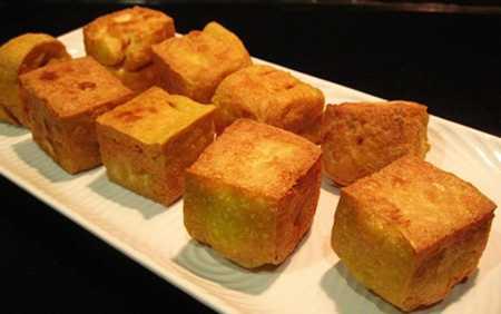 สูตรวิธีการทำอาหารไทย-อาหารเจ-เต้าหู้ทอดราดซอสส้ม