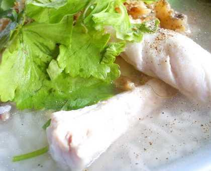 สูตรวิธีการทำอาหารไทย-ข้าวต้มปลากระพง