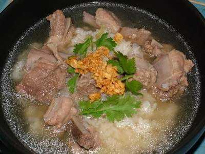 สูตรวิธีการทำอาหารไทย-ข้าวต้มกระดูกหมู