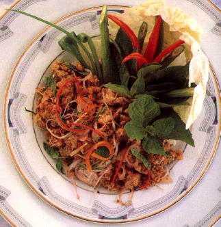 สูตรวิธีการทำอาหารไทย-ลาบปลาดุก