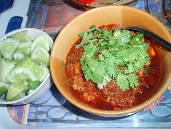 สูตรวิธีการทำอาหารไทย-น้ำพริกอ่องไก่