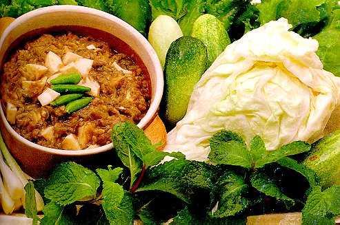 สูตรวิธีการทำอาหารไทย-น้ำพริกมะเขือยาว