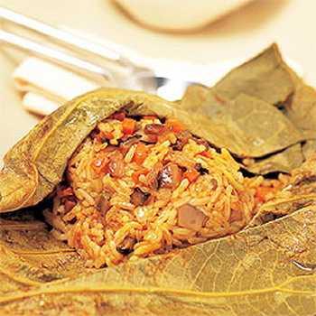 สูตรวิธีการทำอาหารไทย-ข้าวห่อใบบัว