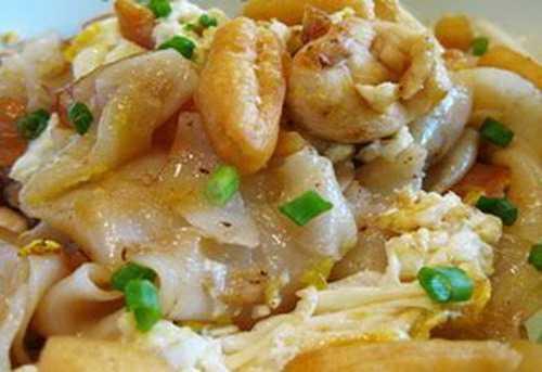 สูตรวิธีการทำอาหารไทย-ก๋วยเตี๋ยวคั่วไก่