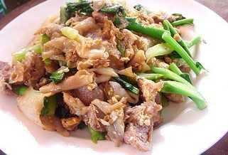 สูตรวิธีการทำอาหารไทย-ก๋วยเตี๋ยวผัดซีอิ๊วเส้นใหญ่