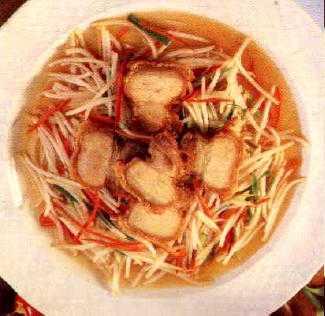 สูตรวิธีการทำอาหารไทย-ถั่วงอกผัดหมูกรอบ