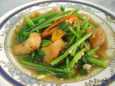 สูตรวิธีการทำอาหารไทย-เนื้อปลากะพงผัดขึ้นฉ่าย