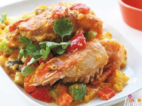 สูตรวิธีการทำอาหารไทย-กุ้งก้ามกรามผัดไข่เค็มสามรส
