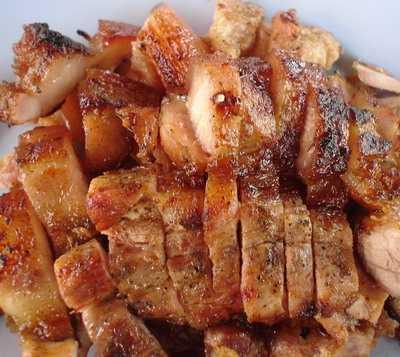 สูตรวิธีการทำอาหารไทย-สันคอหมูย่างน้ำจิ้มแจ่ว