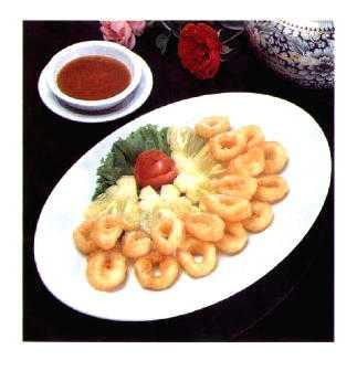 สูตรวิธีการทำอาหารไทย-ปลาหมึกชุบแป้งทอด