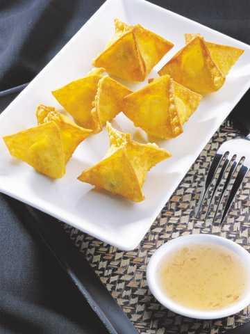สูตรวิธีการทำอาหารไทย-เกี๊ยวห่อครีมชีส