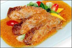 สูตรวิธีการทำอาหารไทย-แกงเผ็ดเป็ดย่าง
