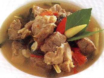 สูตรวิธีการทำอาหารไทย-ต้มแซ่บหมู