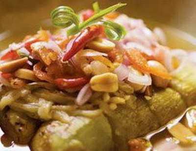 สูตรวิธีการทำอาหารไทย-ยำมะเขือเผา