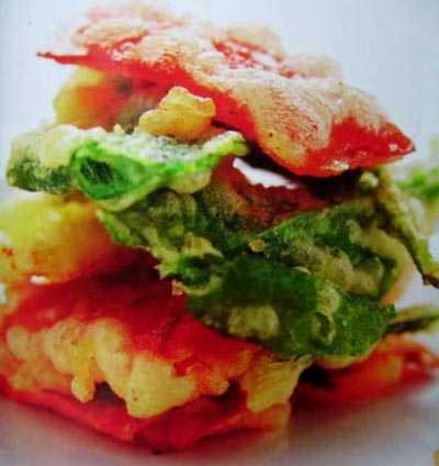 อาหารเจผักทอดกรอบ