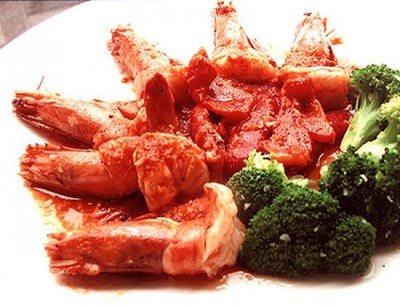 ผัดกุ้งกุลาดำซอสพริกฝรั่ง
