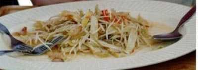 ผักกาดดองโรซ่าผัดหนวดมังกร
