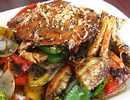 ผัดปูทะเลพริกไทยดำ
