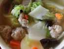 แกงจืดหมูสับผักกาดขาวเต้าหู้ไข่