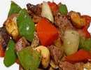 ตับหมูผัดเม็ดมะม่วงหิมพานต์พริกไทยดำ