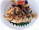 ปลาทับทิมทอดกรอบสมุนไพร