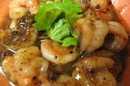 ผัดพริกไทยดำกุ้งสด